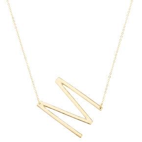 XL M Initial Pendant Necklace,