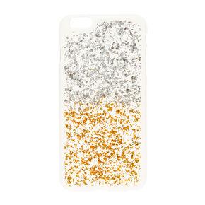 Clear Silver & Gold Glitter Phone Case,