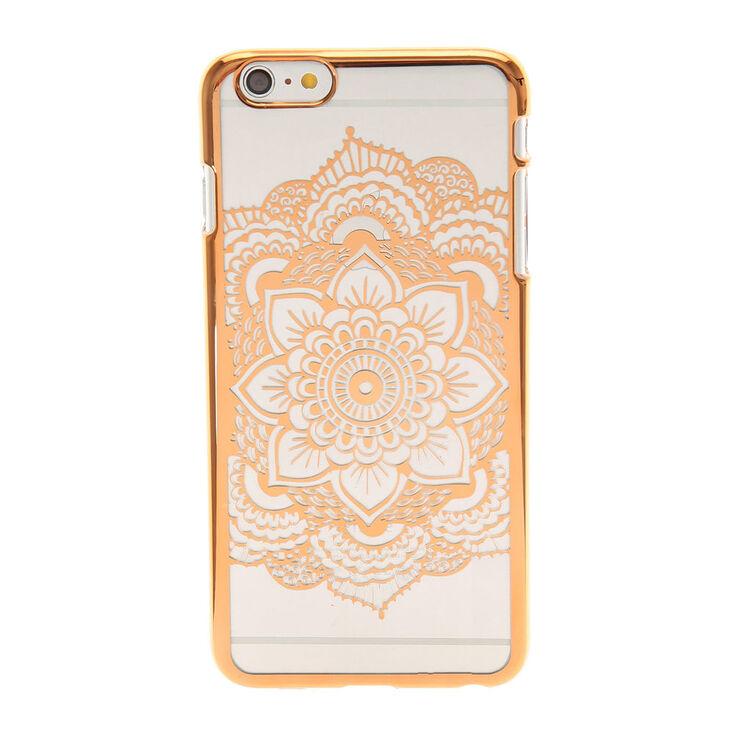 Rose Gold Flower Mandala Phone Case,