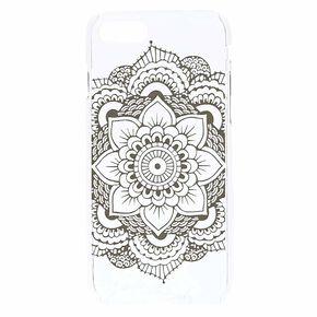 Clear Mandala Phone Case,