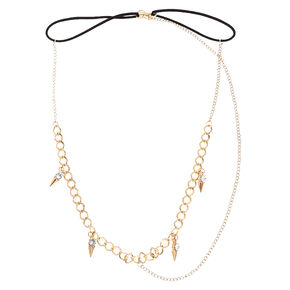 Gold Spiked 3-Way Head Chain,