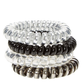 Metallic Black and Gray Hair Ties,