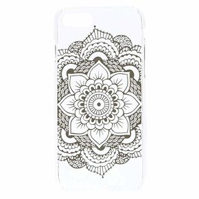 Clear Mandala Phone Case,