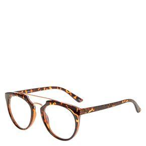 Brow Bar Round Tortoise Shell Fake Glasses,