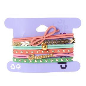 6-Pack Dreamer Stretch Bracelets,