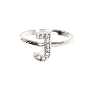 J Initial Adjustable Ring,
