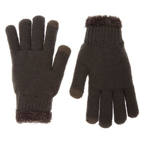 Gray Touch Screen Winter Gloves,