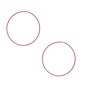 60MM Red Hoop Earrings,