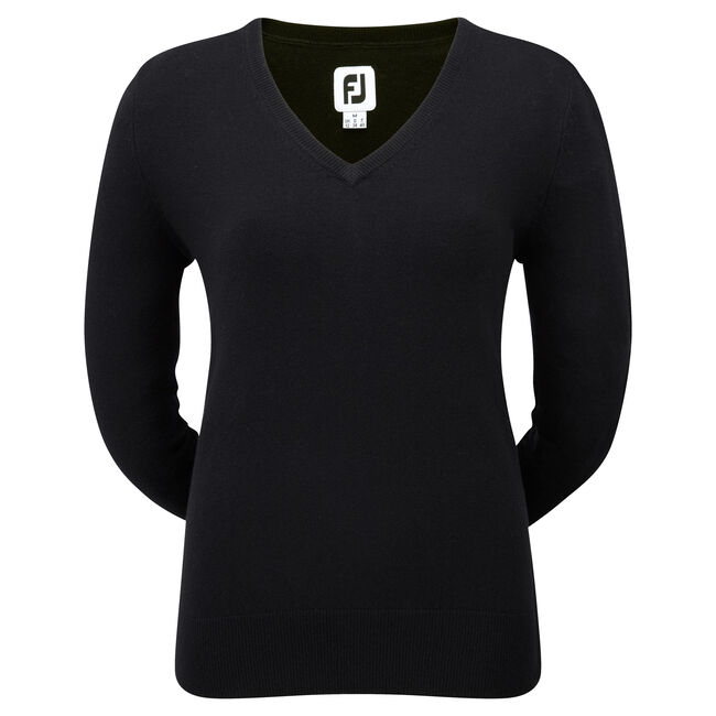 Pullover Lambswool col V Femmes