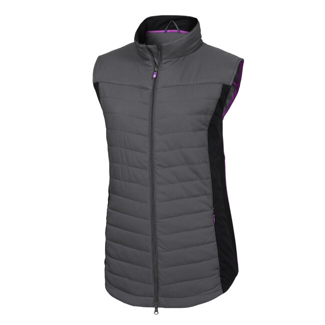 Full-Zip Quilted Vest Women