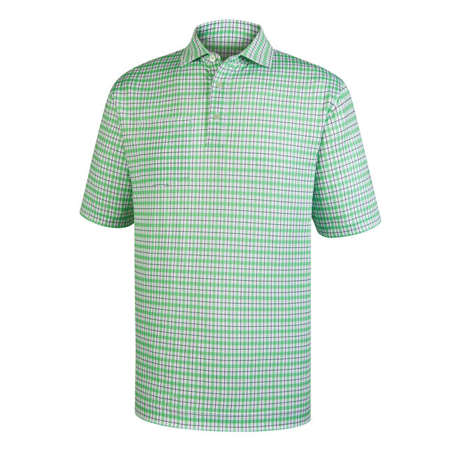 Lisle Plaid Print Self Collar