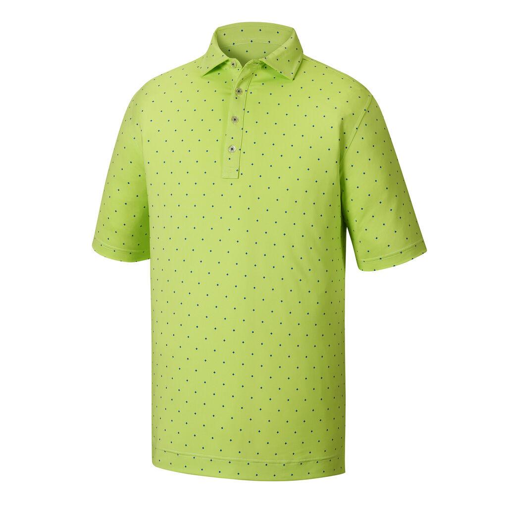 Athletic Fit End On End Lisle Print Mens Golf Shirt Footjoy