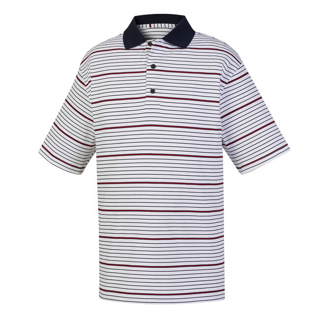 Lisle Multi Stripe Knit Collar