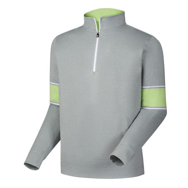 Ribbed Jacquard Half-Zip Vest