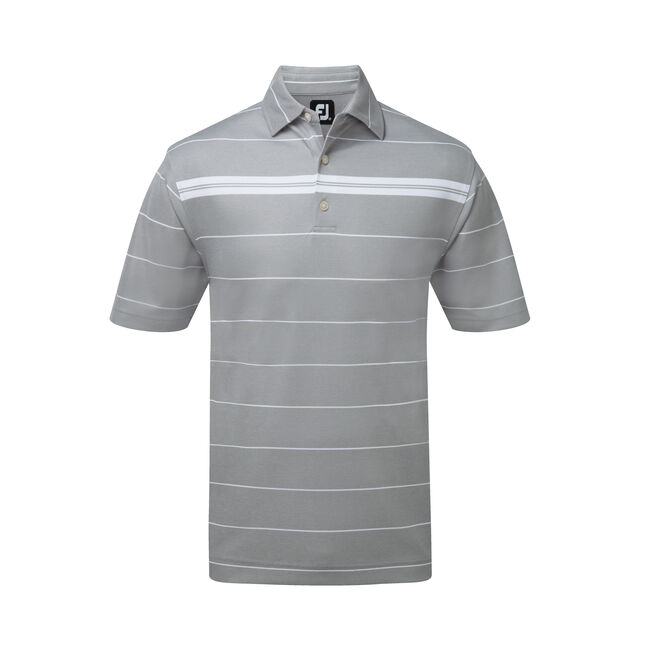 Smooth Pique Chest Stripe Self Collar