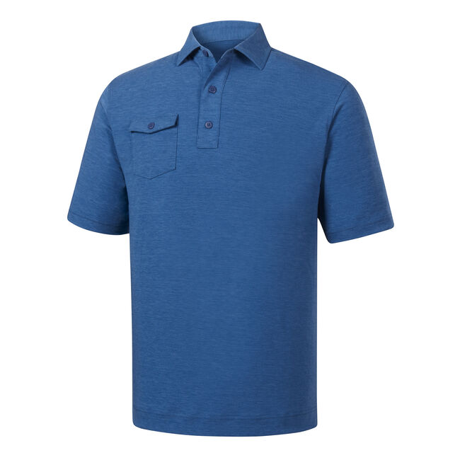 Athletic Fit Spun Poly Chest Pocket Self Collar