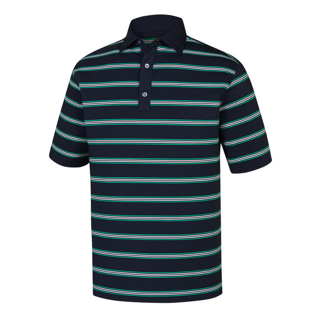 Stretch Lisle Open Stripe Self Collar