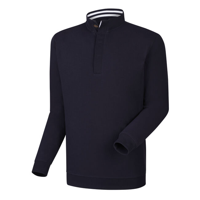 Spun Poly Button Placket Pullover