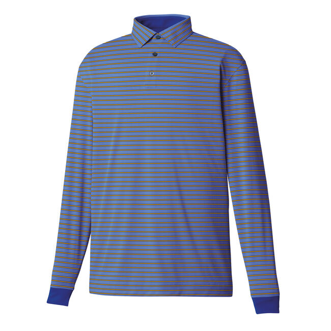 Long Sleeve Thermocool Oxford Stripe Self Collar