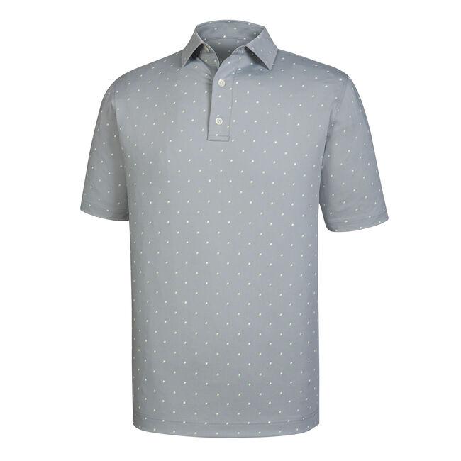 Athletic Fit Lisle Square Print Self Collar