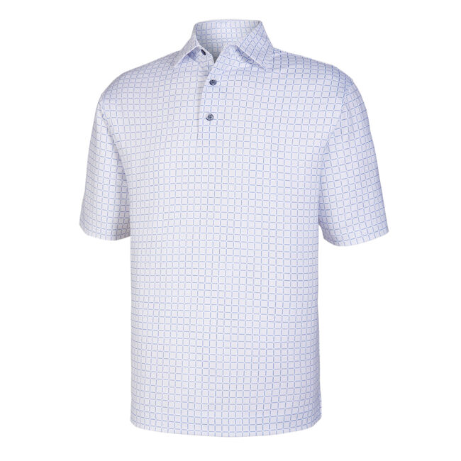 Lisle Grid Print Self Collar