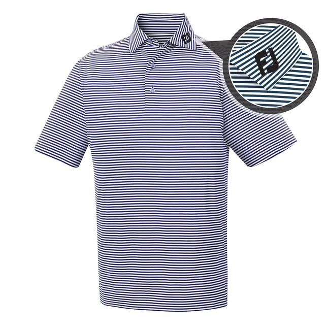 Lisle Feeder Stripe Self Collar - FJ Tour Logo