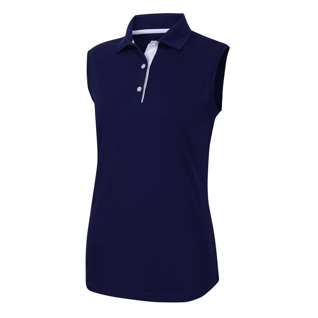 ProDry Interlock Sleeveless Shirt Self Collar Women