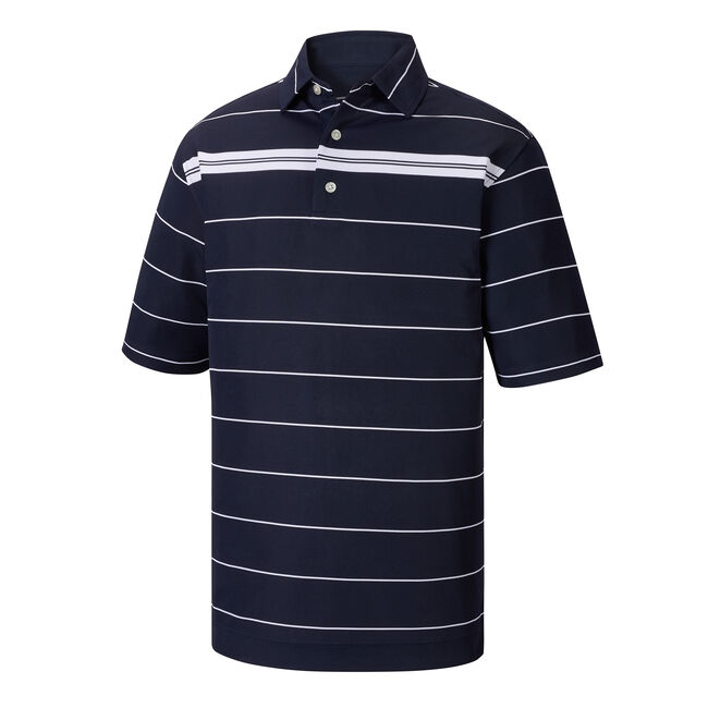 Smooth Pique Chest Stripe Self Collar-Previous Season Style