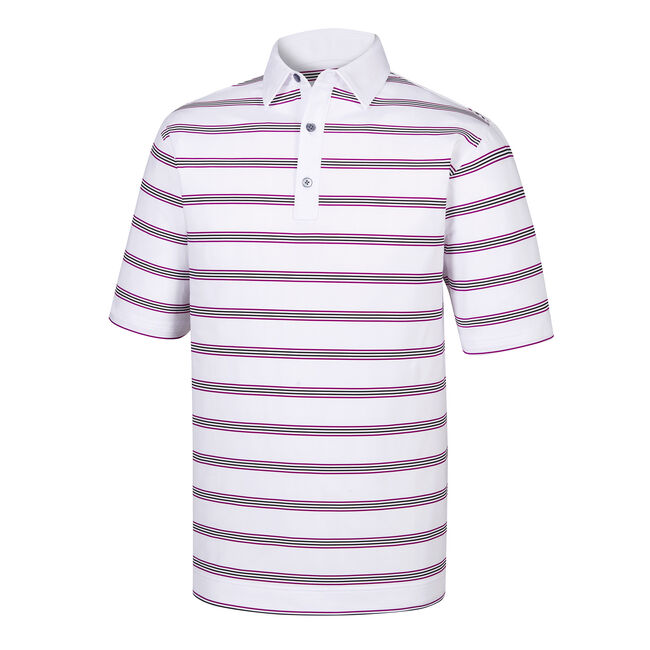 Stretch Lisle Open Stripe Self Collar-Previous Season Style
