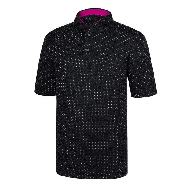 Athletic Fit Smooth Pique Dot Print Spread Collar