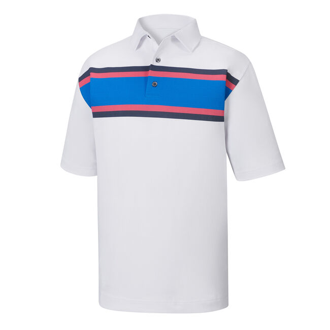 Pique Chest Stripe Self Collar-Previous Season Style