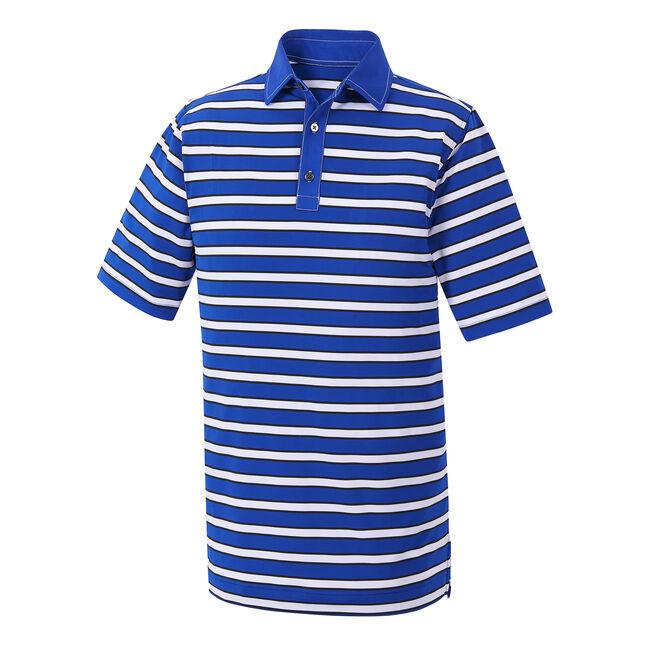 Athletic Fit Stretch Lisle Multi-Stripe Self Collar