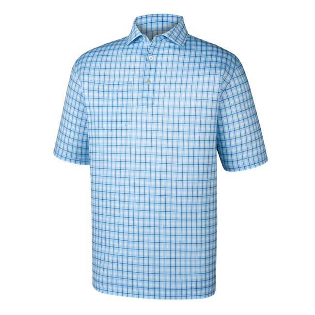 Lisle Plaid Print Self Collar-Previous Season Style