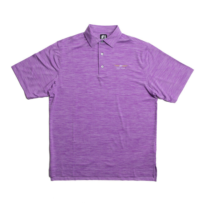 FJ Lisle Space Dyed w/ Self Collar - Violet