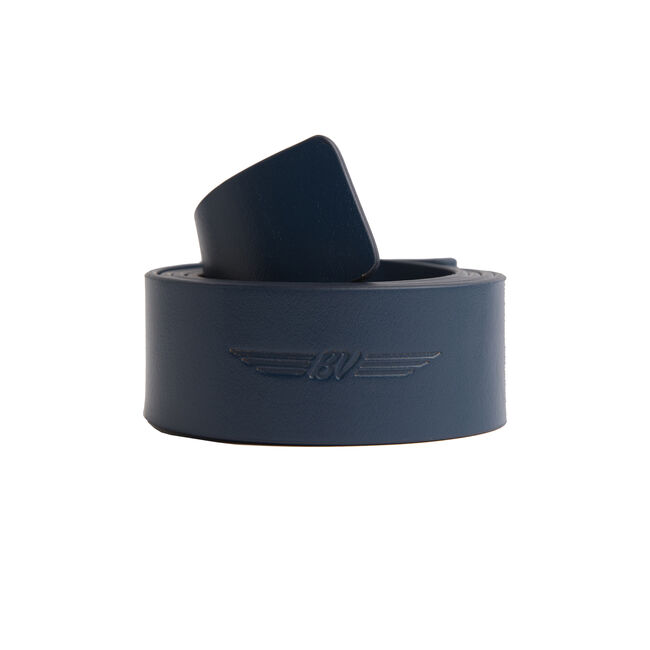 BV Wings Full Grain Leather Belt - Navy