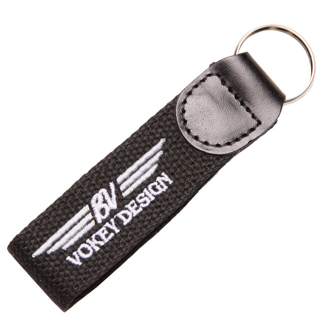 BV Wings Embroidered Key Fob - Black/Grey