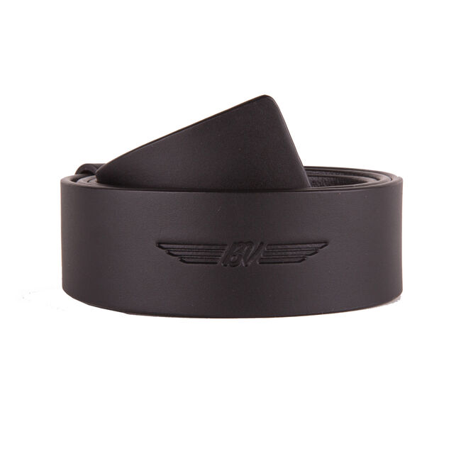 BV Wings Full Grain Leather Belt - Black
