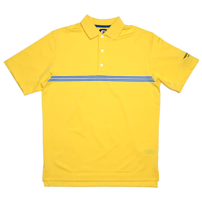FJ Lisle Multi Stripe Chestband w/ Knit Collar - Bright Yellow