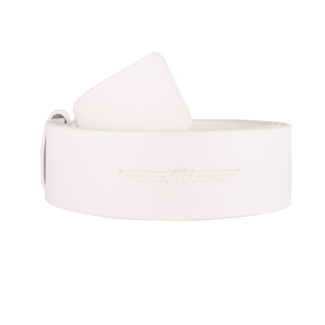 BV Wings Full Grain Leather Belt - White