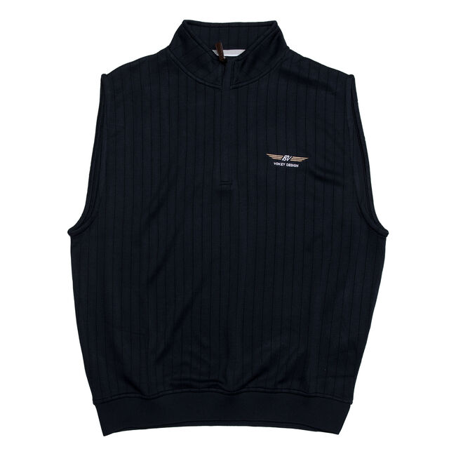 FJ Drop Needle Half-Zip Vest w/ Gathered Waist - Navy
