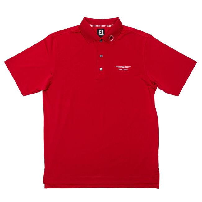 FJ ProDry Performance Lisle w/ Knit Collar - Red