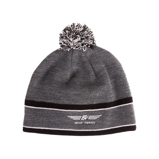 BV Wings Pom Pom Beanie - Charcoal