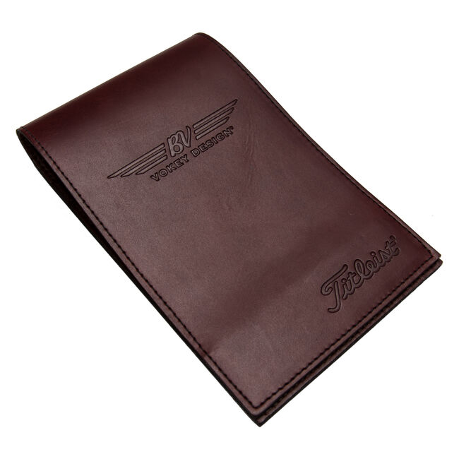 Vokey Design Leather Yardage Book & Scorecard Holder - Burgundy Red