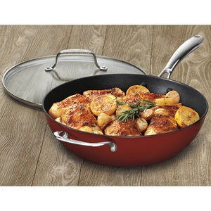 Chef's Pan with Cover – Red