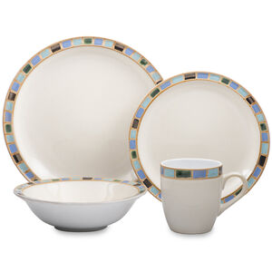 16-Piece Set Stoneware Dinnerware - Mondavi Collection