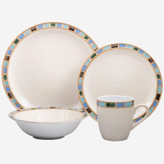 16-Piece Set Stoneware Dinnerware - Mondavi Collection