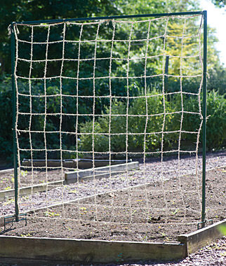 Jute Trellis Support Netting plant supports, garden trellis, garden supplies, organic garden supplies, vegetable garden supplies