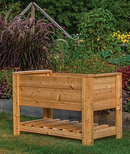 Elevated Planter Box with Shelf, , large