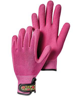 Knitted Velcro Bamboo Gloves Fushia , , large