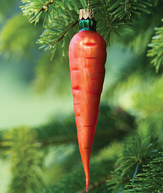 Glass Ornament Carrot, , large
